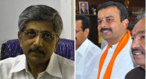 From left: K Jayapraksh Hegde (Cong) and Sunil Kumar (BJP)