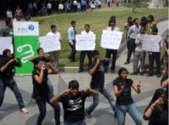 Infosys voters awareness drive. Pic: Bpac