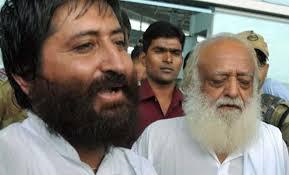 Narayan Sai with father Asaram Bapu Pic: Indian Express