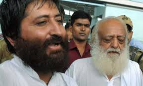 Narayan Sai with father Asaram Bapu Pic: Indian Express