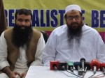From Left: Hafiz Khalid Waleed with his Father in Law Hafiz Muhmmad Saeed: