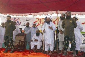 Hafiz Saeed sharing the dais with Maulana Abdus Quddus Burmi  Pic: http://www.mizzima.com