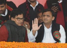 left: Ram Gopal Yadav