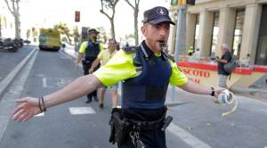 Spain Barcelona Pedestrians Hit
