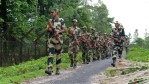BSF personnel patrolling along the India-Bangladesh border